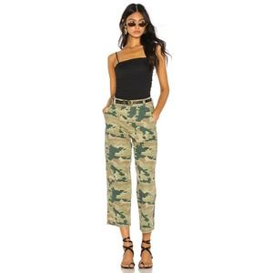 NEW Free People Remy High Rise Camo Wide Jeans 25
